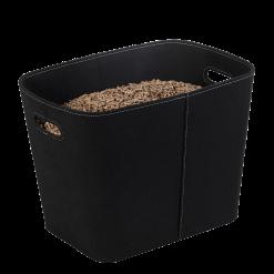 Rangement à granulés-Felt-Feutre-Noir-30 kg - Idéal pour 2 sacs de 15 kg