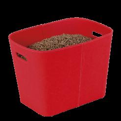 Rangement à granulés-Felt-Feutre-Rouge-30 kg - Idéal pour 2 sacs de 15 kg