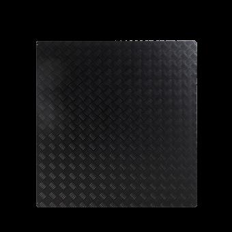 Plaque de sol-Tôle à damiers-Acier-Noir givré-