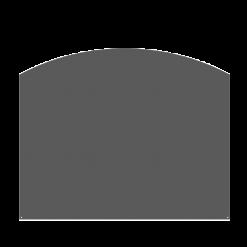 Plaque de sol-Arrondie-Acier-Noir givré-