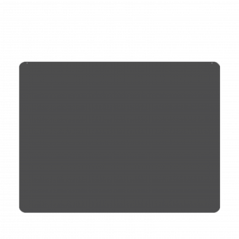 Plaque de sol-Rectangulaire-Acier-Noir givré-
