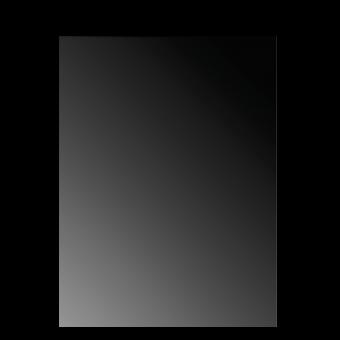 Plaque de sol-Reflet rectangulaire-Verre trempé-Verre / Reflet noir-
