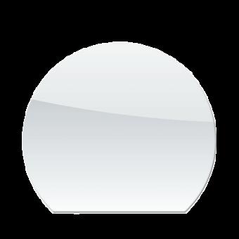 Plaque de sol-Ronde coupée-Verre trempé-Verre-