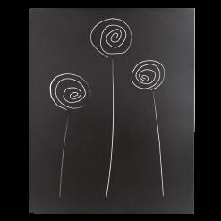 Protection murale-Selene-Acier / Silicate de calcium-Noir givré-