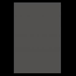Protection murale-Unie-Acier / Silicate de calcium-Noir givré-