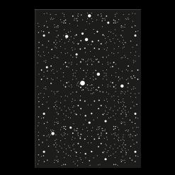 Protection murale-Voie Lactée-Acier / Silicate de calcium-Noir givré-