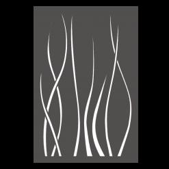 Protection murale-Ondulis-Acier / Silicate de calcium-Gris sablé-