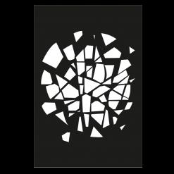 Protection murale-Big Bang-Acier / Silicate de calcium-Noir givré-