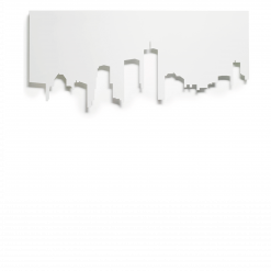 Protection murale-City (plaque decorative)-Acier / Silicate de calcium-Blanc mat-