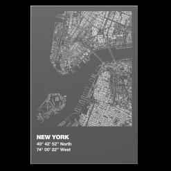 Protection murale-New York-Acier / Silicate de calcium-Gris sablé-