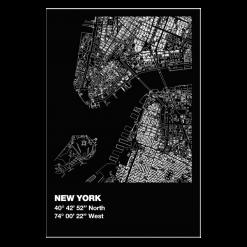 Protection murale-New York-Acier / Silicate de calcium-Noir givré-