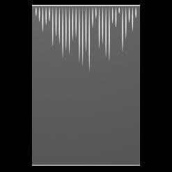 Protection murale-Meteor - haute-Acier / Silicate de calcium-Gris sablé-
