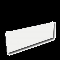 Protection murale-Cache-plinthe-Acier / Silicate de calcium-Blanc mat-