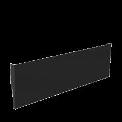 Protection murale-Cache-plinthe-Acier / Silicate de calcium-Noir givré-
