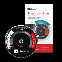 Thermomètre magnétique-Thermomètre magnétique pour poêle à bois--Noir-