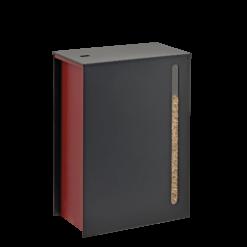 Rangement à granulés-Cargo-Acier-Rouge-45 kg - soit 3 sacs de granulés de 15 Kg