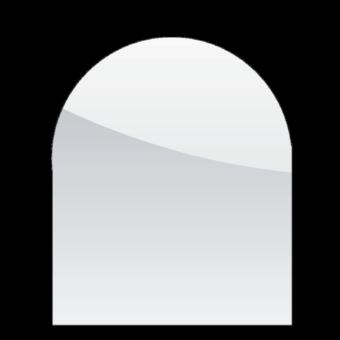 Plaque de sol-Demie-ronde-Verre trempé-Verre-