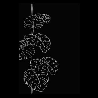 Protection murale-Jungle-Acier / Silicate de calcium-Noir givré-