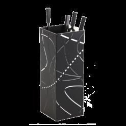 Serviteur-Flame-Acier-Noir givré / blanc-
