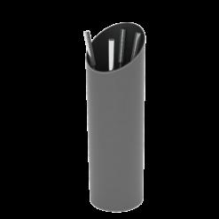 Serviteur-Epsilon-Simili cuir-Extérieur gris / Intérieur noir-