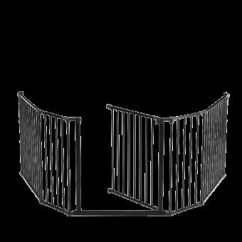 Protection pour poêle-Intégrale-Acier-Noir-