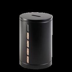 Rangement à granulés-Octaris-Acier-Noir / Couvercle acier-20 kg - Idéal pour 2 sacs de granulés de 10 Kg