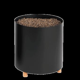 Rangement à granulés-Blend-Acier-Noir givré-18 bûches