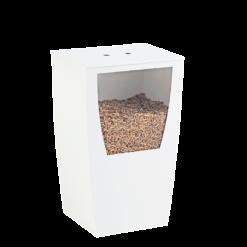 Rangement à granulés-Opus-Acier-Blanc brillant-45 kg - Idéal pour 3 sacs de 15 kg