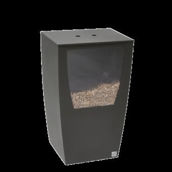 Rangement à granulés-Opus-Acier-Gris sablé-45 kg - Idéal pour 3 sacs de 15 kg