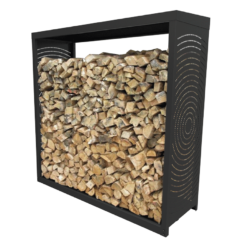 Range-bûches-Woodbox-Acier-Noir givré-3 stères
