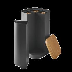Rangement à granulés-Clover-Acier-Gris sablé-30 kg - Idéal pour 2 sacs de 15 kg