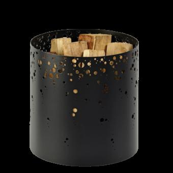 Range-bûches-Spark-Acier-Noir / Gris acier-15 bûches