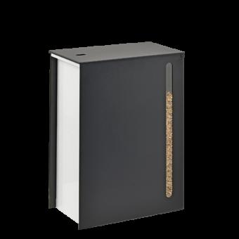 Rangement à granulés-Cargo-Acier-Noir givré / blanc-40 kg - soit 3 sacs de granulés de 15 Kg