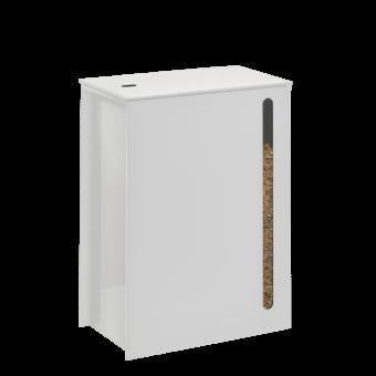 Rangement à granulés-Cargo-Acier-Blanc mat-40 kg - soit 3 sacs de granulés de 15 Kg
