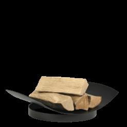 Range-bûches-Leaf 30-Acier-Noir-10 bûches