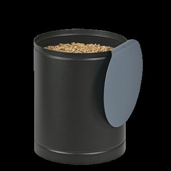 Rangement à granulés-Batiss-Acier-Noir / Bleu horizon-Idéal pour 1 sac de granulés de 15 kg