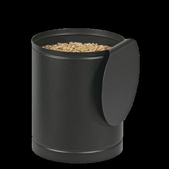 Rangement à granulés-Batiss-Acier-Noir givré-Idéal pour 1 sac de granulés de 15 kg