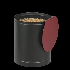Rangement à granulés-Batiss-Acier-Noir / Rouge Bordeaux-Idéal pour 1 sac de granulés de 15 kg