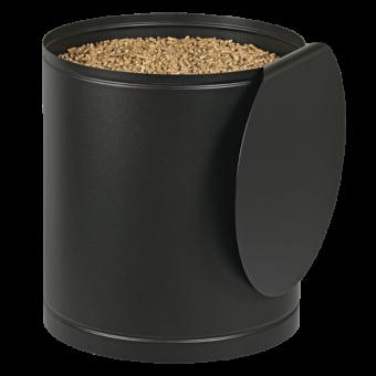 Rangement à granulés-Palass-Acier-Noir givré-50 kg - Idéal pour 3 sacs de 15 kg