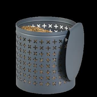Rangement à granulés-Orion-Acier-Bleu horizon-25 kg - Idéal pour 2 sacs de 10 kg