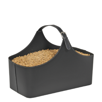 Rangement à granulés-Alpha-Simili cuir-Noir-10 kg de granulés