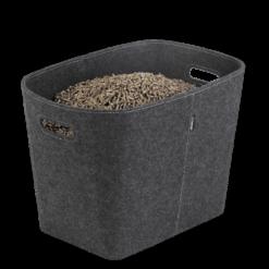 Rangement à granulés-Felt-Feutre-Gris-30 kg - Idéal pour 2 sacs de 15 kg