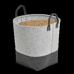 Rangement à granulés-Alara-Feutre-Gris clair / Gris anthracite-50 kg - Idéal pour 3 sacs de 15 kg