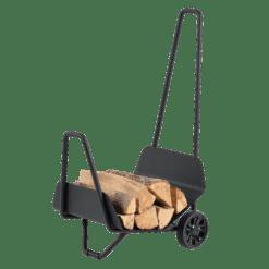 Chariot à bûches-Trotty-Acier-Noir-25 bûches