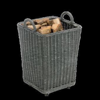 Range-bûches-Gipsy-Rotin gris-Gris-25 bûches