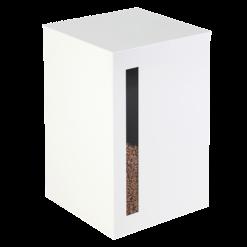 Rangement à granulés-Titan-Acier-Blanc brillant-55 kg - Idéal pour 4 sacs de granulés de 15 Kg