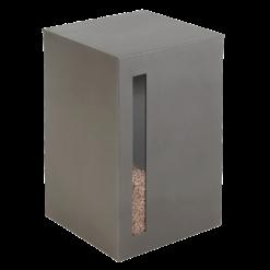 Rangement à granulés-Titan-Acier-Gris acier-55 kg - Idéal pour 4 sacs de granulés de 15 Kg