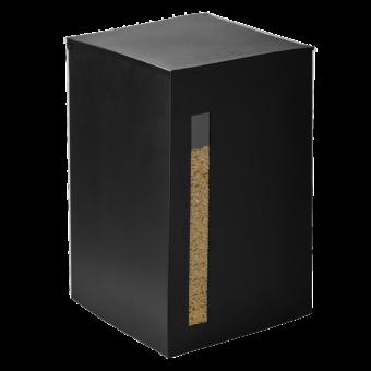 Rangement à granulés-Titan-Acier-Noir givré-55 kg - Idéal pour 4 sacs de granulés de 15 Kg