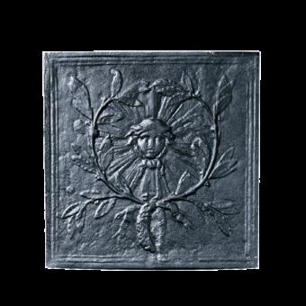 Plaque de fonte-Soleil 2-Fonte-Noir-