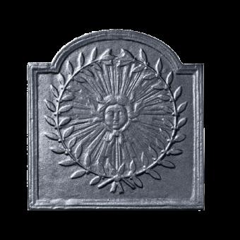 Plaque de fonte-Soleil 1-Fonte-Noir-